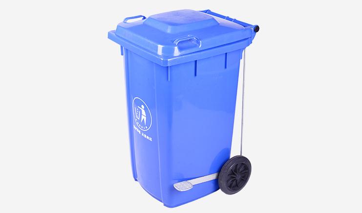 100L-侧边脚踏垃圾桶-蓝色