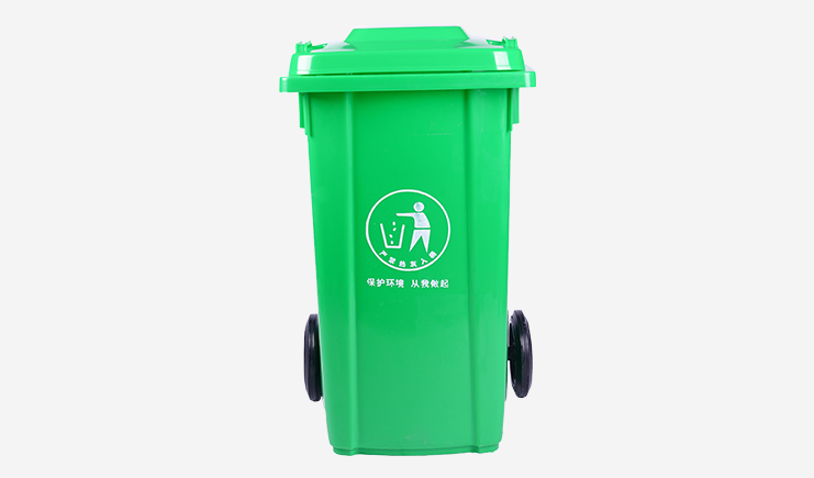 100L-塑料垃圾桶-绿色