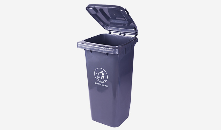 120L-户外垃圾桶-黑色