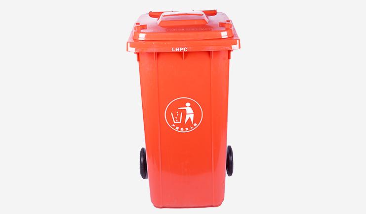 240L-加厚户外垃圾桶-红色
