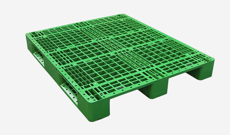 JSL-1311川字网格塑料托盘-绿色