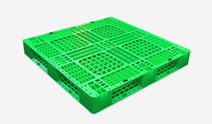 JSL-1212田字塑料托盘-绿(可堆码)